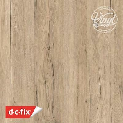 90cm San Remo Eiche Wood Sand Sticky Vinyl Fablon (200-5597) Sold by the metre