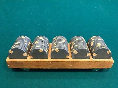Set of 75 Vintage ASM Casino Style Horsehead Mold Clay Chips Yellow-Black
