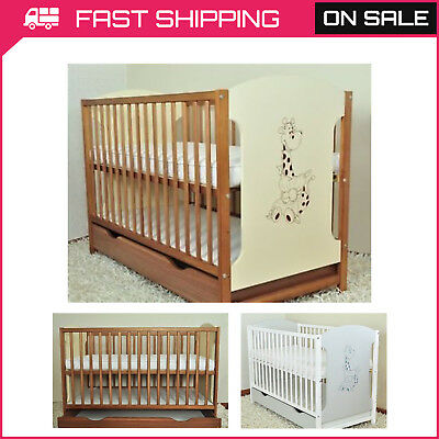 BABY COTS WITH DRAWER/BABY BED/COT BEDS MODELS MIKI SIZE 120x60 MATTRESS CHOICE