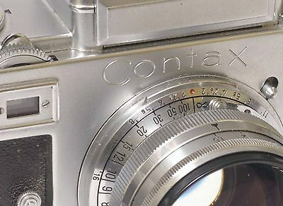 F68044~ Gorgeous Zeiss Contax IIIa Camera & 50mm f/1.5 Sonnar T Opton Lens