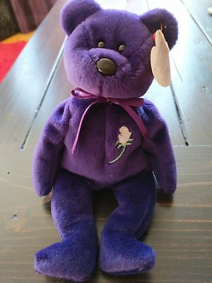 Ty Beanie Baby Princess Diana (Retired) First Edition 1997 RARE. PE pellets.