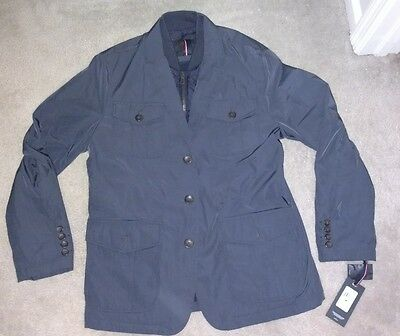Tommy Hilfiger Mens NWT $250 3-in-1 Jacket Coat and Quilted Vest, M Medium, Blue