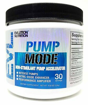 EVLUTION NUTRITION PUMP MODE Non-Stimulant Pre-Workout Accelerator New Flavors