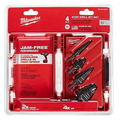 Milwaukee 4 Pc Step Drill Bit Set (48-89-9223)