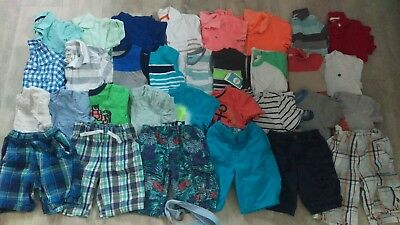 Boys Sz 5T/5 Huge Summer Lot Shirts Shorts Tops Carter's Gap Old Navy Name Brand