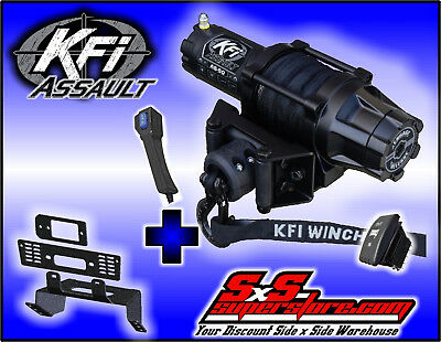 5000 lb KFI Assault Winch Combo - 2009-2014 Full Size Ranger XP 700 800 Diesel