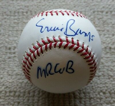 Ernie Banks Autograph Signed Baseball Mr. Cub COA Chicago Cubs