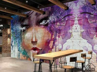 Graphic Design Colorful Drawing Woman Restaurant Art Wall Murals Wallpaper Decal