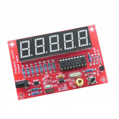 Digital LED 1-50MHz Crystal Oscillator Frequency Counter Metre Tester DIY Kit
