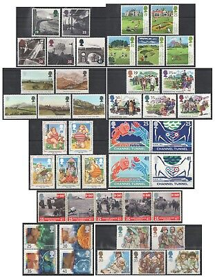 1994 Royal Mail Commemorative Sets MNH. Sold separately & as full year set.