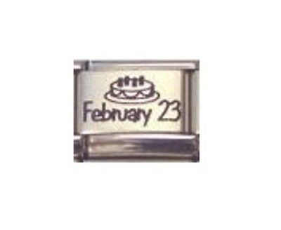 9mm Italian Charm CUSTOM MADE ANY DATE BIRTHDAY plus Genuine Nomination Link