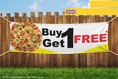 Pizza Offer Buy 1 Get 1 Free Heavy Duty PVC Banner Sign 2488