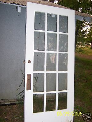 EXTERIOR 15 PANE GLASS DOOR NO HARDWARE approx 36 x 82