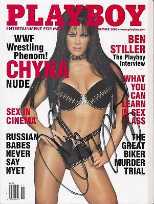 Chyna Signed PLAYBOY 2000 Pictorial Issue