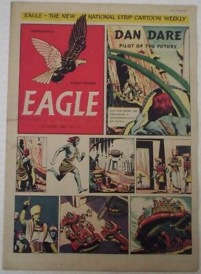 "1950. Vintage EAGLE Comic Vol.1. #11. Cutaway of a Fairey ""Gyrodine"" Helicopter"
