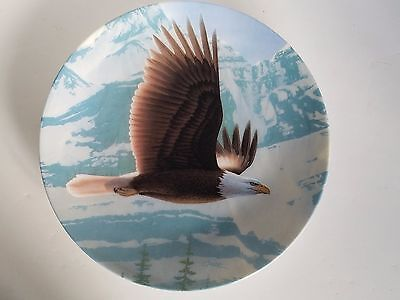 Bald Eagle Majestic Birds Series Knowles Collector Plate, Pamphlet, COA & Box
