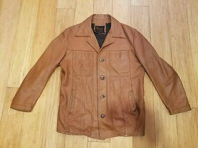 Vintage Reed Sportswear Light Brown Leather Jacket Excellent Condition