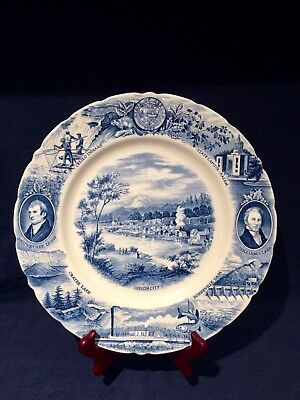 vintage johnson brothers England,Oregon Plate for Meier and Frank Co 10 3/4 ''