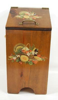 1970's - 80's Wood HANDCRAFTED POTATO AND ONION BIN