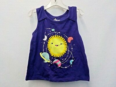 Girl's Size 3T Circo Brand Purple Sun And Planets Tank New Nwt #6107