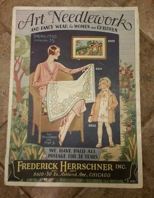 Art Needlework Frederic Herrschner Clothing Linen Catalog Art Deco Illustrations