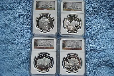 2014, Canada, $20, Bison Set, PF69 UC, Bison Labels, Early Releases