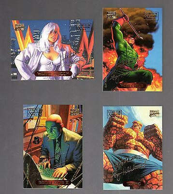 1994 Marvel Masterpieces Parallel GOLD FOIL Signature single (Pick any One)