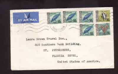 Tanzania 1966 airmail cover to the USA
