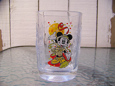 McDonalds Walt DISNEY Animal Kingdom 2000 Square Mickey Mouse Glass