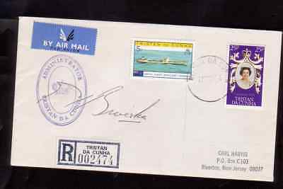Tristan da Cunha 1978  cover to the USA with the signature of Administrator and