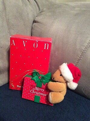 Avon The Gift Collection Hold On Til Christmas Light Up Bear Ornament
