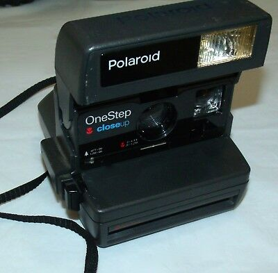 Vintage Polaroid One Step Close Up Instant Camera with Strap - Hard To Find