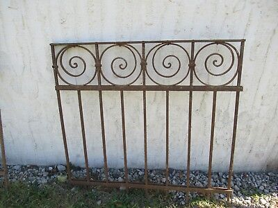 Antique Victorian Iron Gate Window Garden Fence Architectural Salvage Door #09
