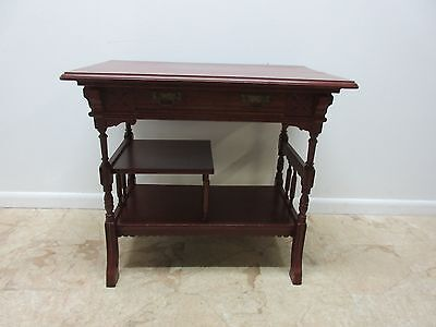 Antique Victorian East Lake Painted Server Bar Side Foyer Table Console