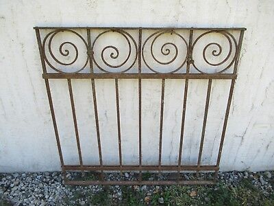 Antique Victorian Iron Gate Window Garden Fence Architectural Salvage Door #012