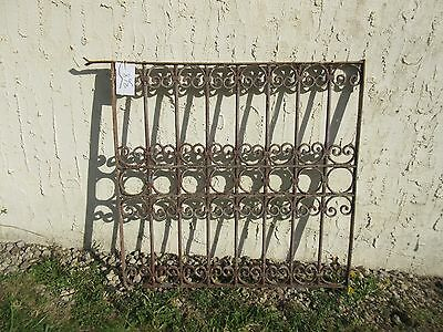 Antique Victorian Iron Gate Window Garden Fence Architectural Salvage Door #368