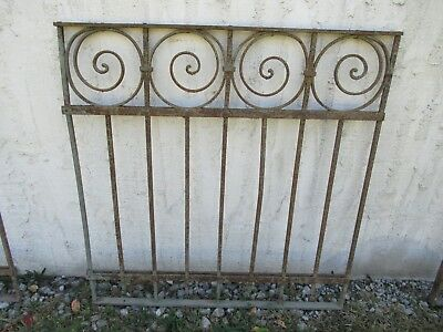 Antique Victorian Iron Gate Window Garden Fence Architectural Salvage Door #03