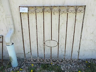 Antique Victorian Iron Gate Window Garden Fence Architectural Salvage Door #384