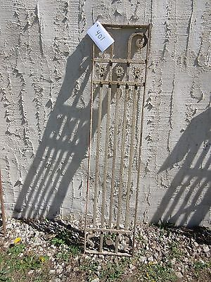 Antique Victorian Iron Gate Window Garden Fence Architectural Salvage Door #401