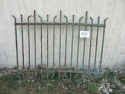 Antique Victorian Iron Gate Window Garden Fence Architectural Salvage #878