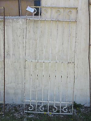Antique Victorian Iron Gate Window Garden Fence Architectural Salvage Door #376