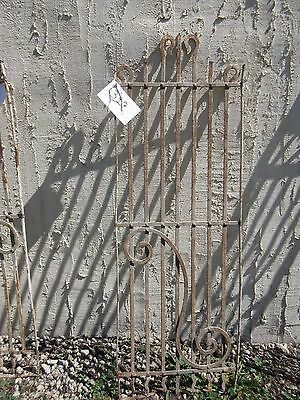 Antique Victorian Iron Gate Window Panel Fence Architectural Salvage Door #397