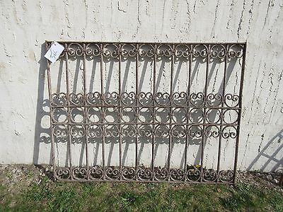 Antique Victorian Iron Gate Window Garden Fence Architectural Salvage Door #366