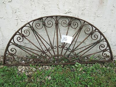 Antique Victorian Iron Gate Window Garden Fence Architectural Salvage Door #696