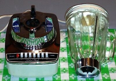 VTG*SEARS Solid State BLENDER*7-speed*#400.82125*works great*cord storage*5 cup