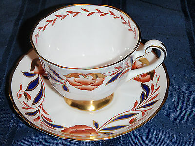 Gorgeous Royal Chelsea Teacup and Saucer- Imari Colors