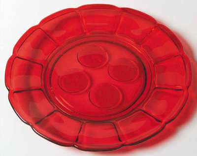 Fostoria COIN GLASS RUBY Luncheon Plate 1814467