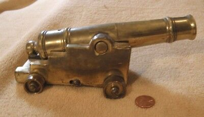 Antique BRASS Model Ships SIGNAL CANNON Navy 12 Pounder HEAVY Marine Nautical