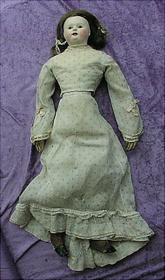 Antique 1840 PAPIER-MACHE LADY from estate