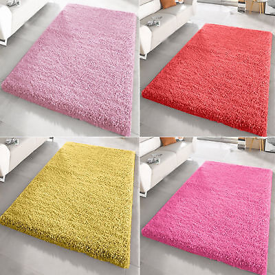 Small X Large Size Plain Thick Soft Shaggy Rug Living Room Bedroom Modern Rugs